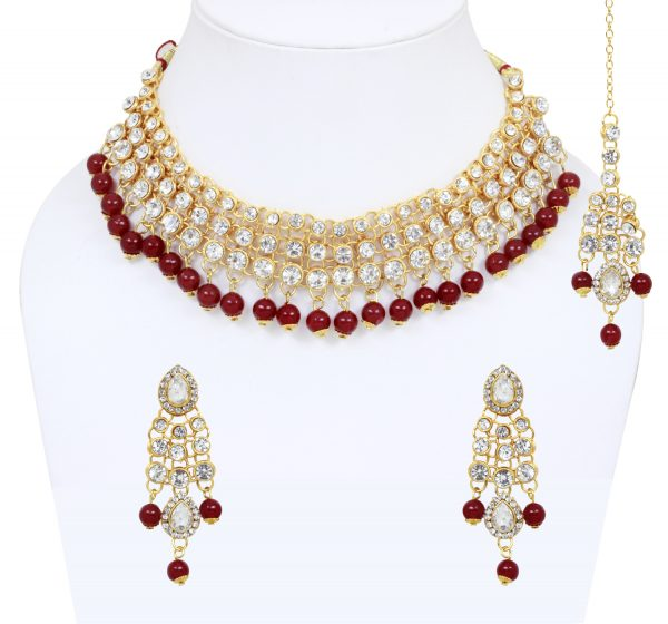 red pearl traditional jewelry