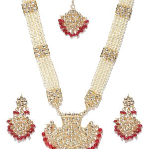 Jewels by Nazee | Red Kundan Rani Haar Bridal Set