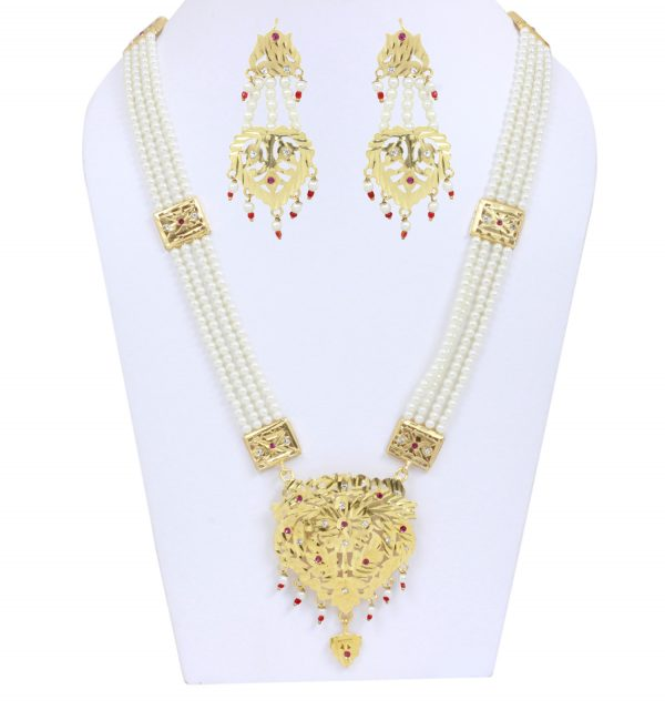 White Stone Jewelry Set