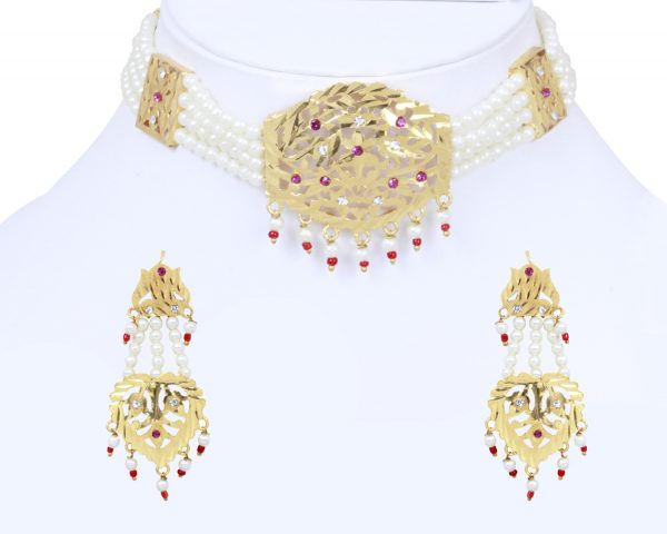 Traditional Styling White Gold Platted Jewelry Set