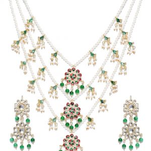 White Gold | Bridal Kundan Jewelry set