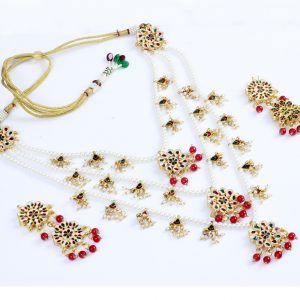 Sapphire | Nazee Jewels | Multi-Color Kundan Necklace